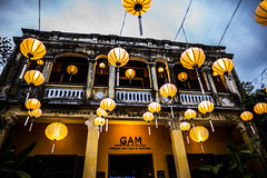 Yellow lanterns @ blue hour (Phg Voyager) Tags: yellow lanterns house old hoihan vietnam asia city street urbanscape leica mp summilux 24mm cityscape blue hour streetphotography color outdoor phgvoyager