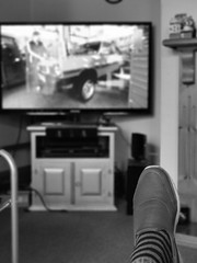 Photo of Watching Colour TV in Black & White