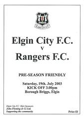 Elgin City v Rangers 20030719 (tcbuzz) Tags: elgin city football club scotland friendly testimonial programme borough briggs