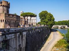 190705-165 Sur la rive du Tibre (2019 Trip) (clamato39) Tags: olympus rome italie italy europe voyage trip river rivière eau water ville city urban urbain