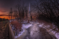St. Andrews Church- Sunrise (Luv2shootphotography) Tags: historic iconic church river sunrise winter ice