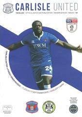 Carlisle United v Forest Green Rovers 20190917 (tcbuzz) Tags: carlisle united football club brunton park english league england programme