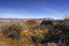 Zion's Kolob area and West Temple from Gooseberry Mesa, Utah (swissuki) Tags: zion national nature park mountain landscape largelandscape utah ut sky gooseberry mesa