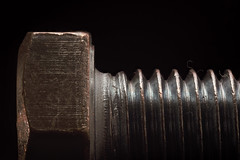 Bolt M8, macro (garic400) Tags: microworld macroworld world macro micro microcosm macrocosm closeup close up lomo lens photo increase микро макро мир фото ломо крупный план увеличение фотография microplanar 65mm f45 микропланар bolt metal m8 side view profile black background
