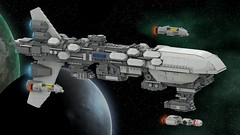 Assault Frigate Mark I (ky-eeeee) Tags: lego ldd digital render starwars rebellion fleet ship ships