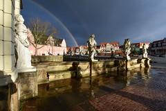 Regenbogen... (r.wacknitz) Tags: regenbogen rainbow wolfenbüttel niedersachsen schloss schlossplatz architektur architecture architettura rainy nikon tamron1024 luminar18 lightroom