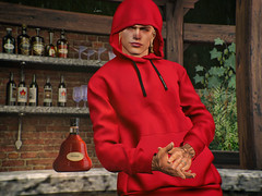 # 00197 || I have the flu (Leon Miranda) Tags: pose solo ckey poses filippo 5 man cave nose eyelids cold red leggy the hoodle galvanized g hoodie fatpack access cognac liquor tredente bento cakeday event