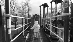Walking (Ezra Greenlee) Tags: apsc dx wide baby todler backandwhite play park girl kid f28 1628 tokina nikon
