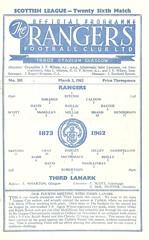 Rangers v Third Lanark 19620303 (tcbuzz) Tags: rangers football club ibrox stadium scotland scottish league cup programme