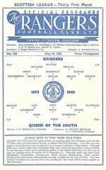 Rangers v Queen of the South 19630518 (tcbuzz) Tags: rangers football club ibrox stadium scotland scottish league cup programme