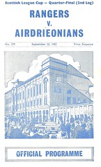 Photo of Rangers v Airdrieonians 19650922