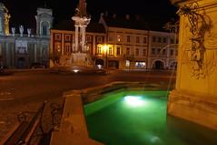 2016-11-07_21-18-19_Pentax_JH (Juhele_CZ) Tags: mikulov moravia czechrepublic houses architecture historical hill nature fountain water night square town