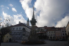 2016-11-10_14-59-00_Pentax_JH (Juhele_CZ) Tags: mikulov moravia czechrepublic houses architecture historical hill nature monument statue water square town
