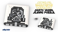 Darth Vader Sliding Puzzle - INSTRUCTIONS - (Rolling bricks) Tags: lego moc creator 80s star wars sliding puzzle movie darth vader mandalorian game