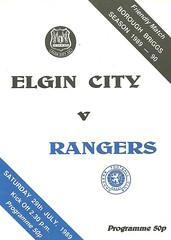 Elgin City v Rangers 19890729 (tcbuzz) Tags: elgin city football club scotland friendly testimonial programme borough briggs