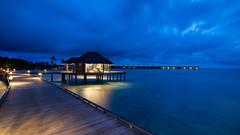 (A Sutanto) Tags: maldives hotel island vakkaru blue hour night lights twilight dusk overwater travel resort