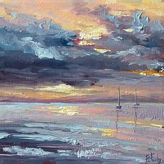Seascape painting (bozhenafuchs) Tags: art painting seascape sea ocean artist artistonflickr nature oilpainting canvas paint painter sunset