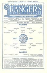 Rangers v Falkirk 19621117 (tcbuzz) Tags: rangers football club ibrox stadium scotland scottish league cup programme