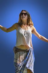 Clear Blue Skies (Scott 97006) Tags: woman female lady pretty beauty shades blues