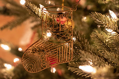 Gold Filigree Stocking Ornament (marylea) Tags: dec20 2019 christmas decorations ornament ornaments stockingornament gold