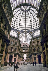 Naples, Italy, 1980s slide (lumierefl) Tags: naples napoli campania italy europe architecture building commercial business shoppinggallery shoppingmall skylight 1890s 19thcentury