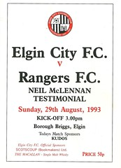 Elgin City v Rangers 19930829 (tcbuzz) Tags: elgin city football club scotland friendly testimonial programme borough briggs