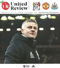 Manchester United v Newcastle United 20191226 (tcbuzz) Tags: manchester united football club old trafford stadium englaish england premier league programme