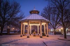 Hathorn Spring on a Snowy Night (Samantha Decker) Tags: samsungnx1100 upstate snow newyork mirrorless samsungnx16mmf24 samanthadecker saratogasprings ny