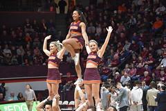 VT CHEERLEADERS (SneakinDeacon) Tags: cheerleaders hokies vatech vt virginiatech accbasketball collegebasketball