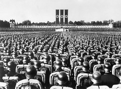 W1669 (newstarart) Tags: men soldier nazi adolfhitler nuremberg crowd helmet listening photograph government publicspeaking nazism unspecified standinginformation conformity nurembergrallies