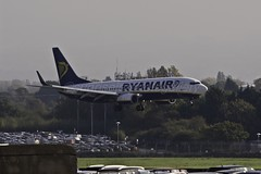 MAN (sunrisejetphotogallery) Tags: manchester airport man england united kingdom airliner ryanair boeing737800
