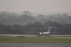 MAN (sunrisejetphotogallery) Tags: manchester airport man england united kingdom airliner flybe dhc8q400