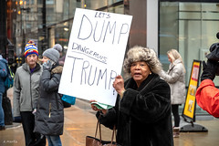 """""""Let's Dump Dangerous Trump"""" (Andy Marfia) Tags: select chicago loop protest march womensmarch candid sign d7500 1680mm 1200sec f4 iso450"""