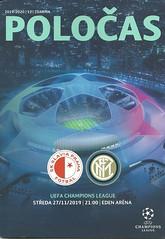Slavia Prague v Inter Milan 20191127 (tcbuzz) Tags: slavia prague football club eden arena uefa champions league programe