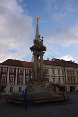 2016-11-10_14-56-46_Pentax_JH (Juhele_CZ) Tags: mikulov moravia czechrepublic houses architecture historical hill nature monument statue water square town