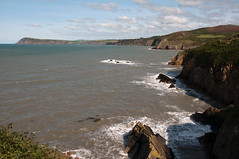 Photo of Welsh coast from Fishguard. Wales