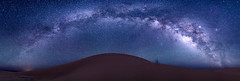 Panorama Duna i Via Làctia (jordi.fraxanet) Tags: milkyway vialàctia vialactea desert ergchegaga astronomia astronomy astrofotografia astrophotography panorama