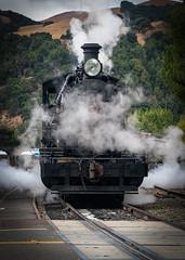 Skookum Steam Up No.4 (CDay DaytimeStudios w /1 Million views) Tags: cloudysky railroading landscape sunol steamengines railequipment nilesca locomotive hills california hillside nilescanyonrailroad