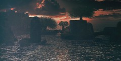 @Isles of Scotland~Here comes the rain again... (*closed for a while*) Tags: skipstaheli secondlife sl virtualworld digitalpainting clouds seascape landscape sim travel explore place scotland islesofscotland