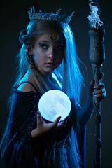 Lillianna (Wurmwood Photography) Tags: nikon godox fovitec beauty fantasy blue fictional creative mythological myth magic magical powerful moon celestial hair eyes portrait girl face conceptual light lighting