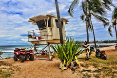 Lifeguard Station (ashockenberry) Tags: wild wilderness exotic eco ecosystem reserve rainforest tourism travel habitat hawaii nature naturephotography natural native majestic beautiful beauty beach scenic landscape light ocean pacific north shore coastline coast sun surf surfing 4 wheeler motorcycle sky palm tree tide sand tropical ashleyhockenberryphotography