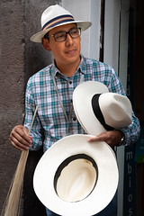 Panama Hats (blokfam9739) Tags: adult ecuador people peopleandculture quito southamerica streetphotography