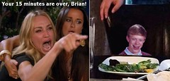 Your 15 minutes are over, Brian! (Cui Bono) Tags: woman cat meme taylor armstrong real housewives beverly hills bad luck brian school photo angry
