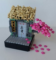 (LegoHobbitFan) Tags: lego moc creation build model vignette contest battle droid house roof path tree door window street road flowers tan pink gray cherry blossom asian japanese