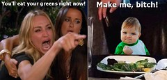 You'll eat your greens right now! (Cui Bono) Tags: woman cat meme taylor armstrong real housewives beverly hills child baby television tv angry