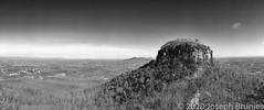 Pilot Mountain (Joseph Brunjes) Tags: 120 2020 brunjes ektar joseph mediumformat nc noblex pilotmountain blackwhite film kodak panorama