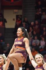 HOKIE CHEERLEADER (SneakinDeacon) Tags: cheerleaders hokies vatech vt virginiatech accbasketball collegebasketball