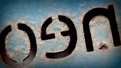 Letters (patrick_milan) Tags: close up macro simple letters blue bleu blau
