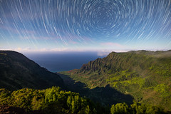 Kalalau Valley Star Trails (geekyrocketguy) Tags: kalalau night stars star trails valley kauai hawaii longexposure timelapse