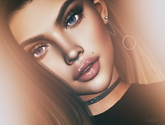 ˢᵃʸ ⁱᵗ.... (scarlettrose.karsin) Tags: livia liviamakeup cosmetics sl secondlife makeup appliers blog blogging blogger earrings genusproject face upclose portrait avatar ps photoshop